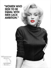 Marlyn Monroe Poster Wall Art Print Famous Quote Picture Cool Gift - All Sizes