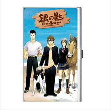 NEW Cigarette Credit Business Card Holder Silver Spoon anime manga *rare