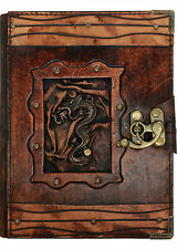 Chinese Dragon Pendant Handmade Leather Diary / Journal / Sketchbook / Notebook
