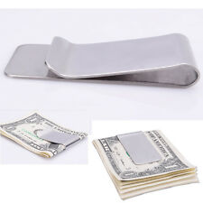 High Quality Slim Money Clip Credit Card Holder Wallet New Stainless Steel Hot