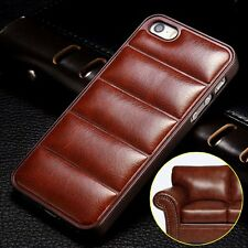 New 3D Vintage Leather Back Case Cover Skin For Apple iPhone 4 4s 5 5s 6 6 Plus