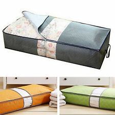 Clothing Blanket Zippered Non-woven Fabrics Underbed Storage Organizer Bag Box