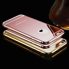 Luxury Aluminum Metal Ultra Thin Mirror Back Case Cover Skin For iPhone 6 6 Plus
