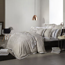 Royal Doulton BELVEDERE LINEN Duvet Doona Quilt Cover Set Queen King Super Sizes