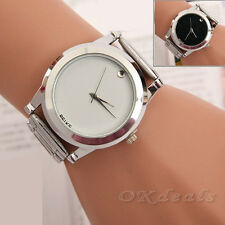 Fashion Womens Mens Stainless Steel Watches Analog Quartz Wrist Watch 3 Colors