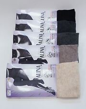 Womens 75% Merino Wool Cotton Tights - Warm Soft | Winter Cold Weather