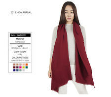 100% Pure Warm Wool Soft Pashmina Wrap Winter Gift Scarf Hot Selling 14 Colours