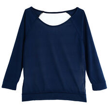 New Fashion Womens Sexy Casual Long Sleeve Top Shirt Blouse Blouse ES