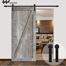 Single Closet Sliding Barn Wood Door Hardware Hang Track Kit Set 5/6/7.5/8.2 FT