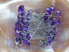 Large Headed 12mm Diamante Crystal Pin -- Various Colours Wedding Flowers Roses