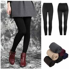 Women Warm Winter Thick Footless Skinny Slim Leggings Stretch Pants UL