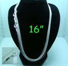 "Wholesale 925 Sterling Silver 1mm thin Chain ""O"" Chains Necklace 18"" 20"" 22"" 24"""