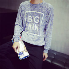 Mens Pullover Sweater Knitwear Neck Round Letter Printed Casual Knitted Sweaters