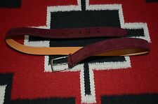 Ralph Lauren Purple Label Made in Italy Suede & Leather Belt