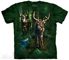 Dappled T-Shirt by The Mountain. Hunting Deer in Forest Tee Sizes S-5XL NEW