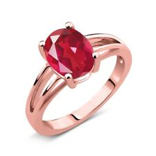 1.80 Ct Oval Last Dance Pink Mystic Quartz 18K Rose Gold Plated Silver Ring
