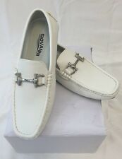 MEN GIOVANNI DRESS SHOES Loafer Casual Italian Style Slip-On Solid WHITE 9511