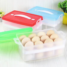 Hot Double Layer Plastic Refrigerator Egg Box Case 24 Eggs Storage Container