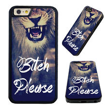 Funny Bitch Please Lion Quote Hard Case Cover for Iphone 6s 7 6 Plus 5s 6 5c 4s