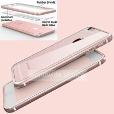 New Ultrathin Luxury Aluminum Metal Bumper Clear Back Case Cover For iPhone 6 6s