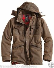 SURPLUS XYLONTUM SUPREME MENS JACKET WARM HOODED WATER-RESISTANT PARKA BROWN