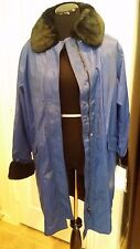 NEW Small(6-8) Dennis Basso Storm Coat w/Removable Faux Fur Collar & Cuffs