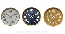 Leni 28cm Wood Wall Clock With Silent Sweep Movement