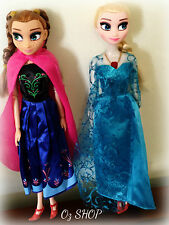 """12"""" Frozen ELSA and ANNA Doll Figure Toys WITHOUT BOX Gift Set Collection"""