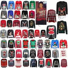 New Womens Novelty Christmas Jumper Ladies Mens Vintage Retro Knitted Sweater