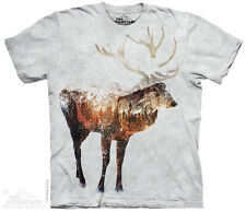 Snow Deer T-Shirt by The Mountain. Wild Animal Sizes S-5XL NEW