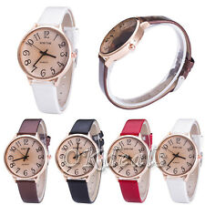 New Luxury Women Men Unisex Watches PU Leather Watch Fashion Quartz Wrist Watch