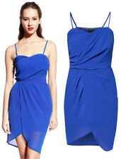 Catwalk88 Womens Chiffon Casual Party Evening Cocktail Club Bustier Straps Dress