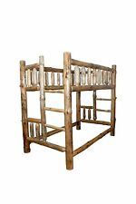 Rustic Pine Log - TWIN over  FULL - Complete Bunk Bed Frame - Amish Made in USA