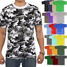 PROCLUB T Shirts Mens HEAVY Tee Hip Hop Super Max Camo Plain Big And Tall Solid