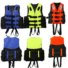 S-XXXL Polyester Adult Life Jacket Universal Swimming Boating Ski Vest+Whistle