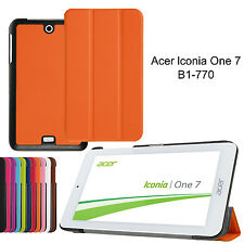 """PU Leather Stand Case Cover Protector Skin Pouch For Acer Iconia One B1-770 7"""""""