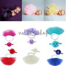 2015 Newborn Baby Girls Tutu Skirt Headband Costume Photo Prop Dress Xmas Gifts