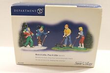 Department 56 Snow Village Work A Little, Play A Little 55208 Set 4 People NEW