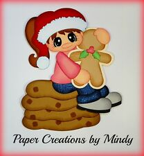 Craftecafe Mindy Christmas Cookies girl premade paper piecing for scrapbook