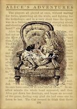Alice in Wonderland Vintage Art Print Nursery Wall Art Alice in Chair