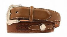 Nocona Western Mens Belt Leather Top Hand Laced Mocha N2474002