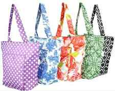 Sachi Insulated Foldable Market/Lunch Tote 5pc Set with or without Gift Boxes