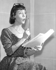 IMOGENE COCA READING FROM SCRIPT PHOTO OR POSTER