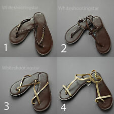 NWT HOLLISTER HCO WOMENS FAUX LEATHER SANDALS FLIP FLOPS SIZE: XS S M