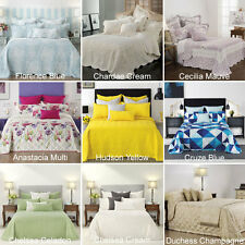 BIANCA Bedspread Set Coverlet- Single, King Single, Double, Queen, King Size Bed