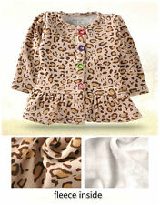 baby Girl clothes autumn winter warm coat cotton with fleece cardigan leopard