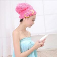 Dry Hair Hat Microfiber Wrapped Towel Bathing Cap Quickly Dry Convenient TZ ZN15