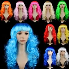 Womens Long Curly Wavy Hair Synthetic Anime Cosplay Wig Full Wigs Princess H21
