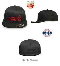 SAVE THE MANUALS Racing Automotive Flex Fit HAT ***FREE SHIPPING in BOX***