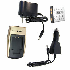 Battery + Charger for Fuji FinePix Series Digital Cameras
